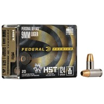 Náboj Federal 9 Luger HST JHP 8 g / 124 grs
