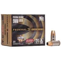 Náboj Federal 9 Luger Hydra Shok JHP 8 g / 124 grs