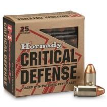 Náboj Hornady 9 Makarov FTX Critical Defense 6,2 g / 95 grs