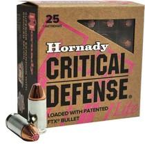 Náboj Hornady 9 mm Luger FTX Critical Defense Lite 6,5 g / 100 grs