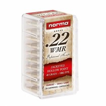 Náboj Norma 22 WMR JHP 2,59 g