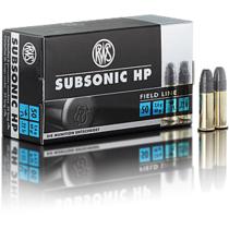 Náboj RWS Subsonic HP 22 LR