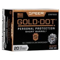 Náboj Speer .45 Auto Gold Dot Short Barrel 14,9 g / 230 grs