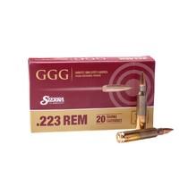 Kulový náboj GGG 223 Rem., HPBT Sierra Match King 69 gr