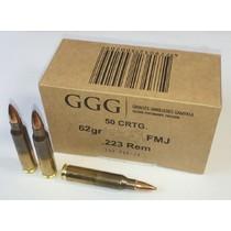 Kulový náboj GGG 223 Rem. FMJ 62gr