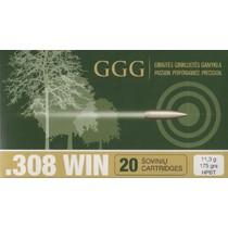 Kulový náboj GGG .308 HPBT Sierra Match King 175gr