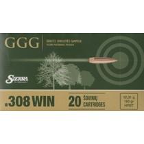 Kulový náboj GGG .308 HPBT Sierra Match King 190gr